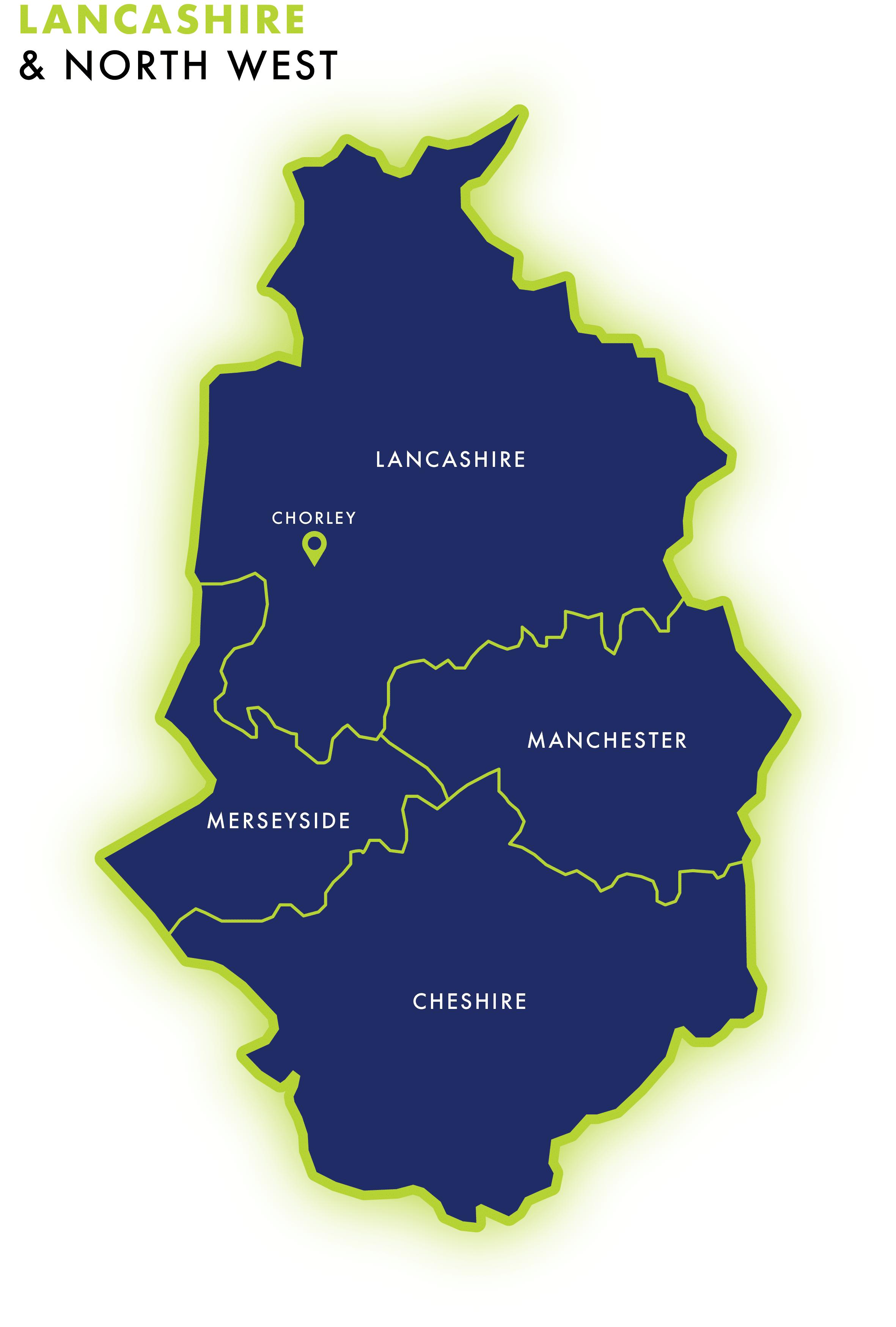 Lancashire IT recruitment map